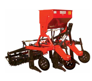 Combined cultivator for vineyards and orchards (stainless steel hopper)