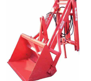 Rear-mounted hydraulic loader