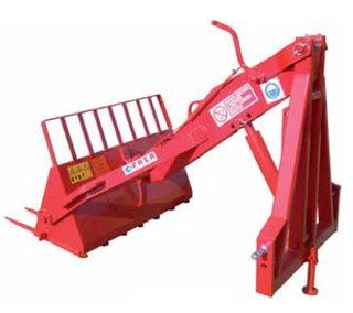 Earth/manure loader